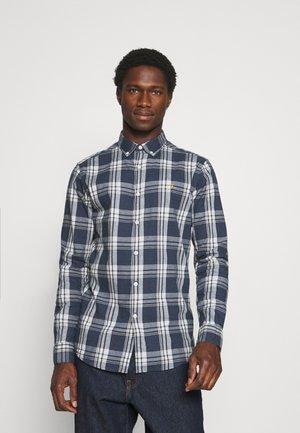 STEEN CHECK - Shirt - blue nickle
