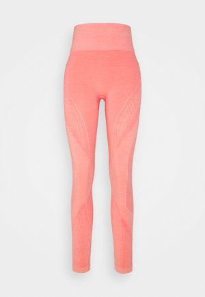 HMLJOY SEAMLESS HIGH WAIST TIGHTS - Leggings - sugar coral melange