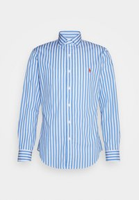 SLIM FIT STRIPED POPLIN SHIRT - Shirt - light blue/white