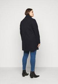 Dorothy Perkins Curve - MINIMAL SHAWL COLLARCROMBIE COAT - Short coat - navy - 2
