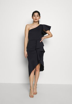 ONE SHOULDER MIDI DRESS - Cocktail dress / Party dress - navy