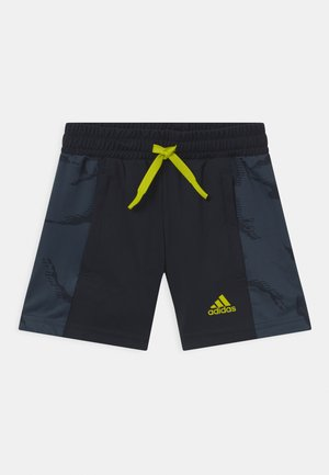 UNISEX - Sports shorts - legend ink/acid yellow