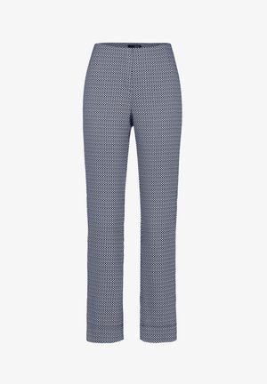 INA-740 95953 STRETCHHOSE JACQUARD - Trousers - dunkelblau