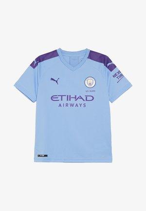 MANCHESTER CITY HOME REPLICA WITH SPONSOR LOGO - Print T-shirt - team light blue/tillandsia purple