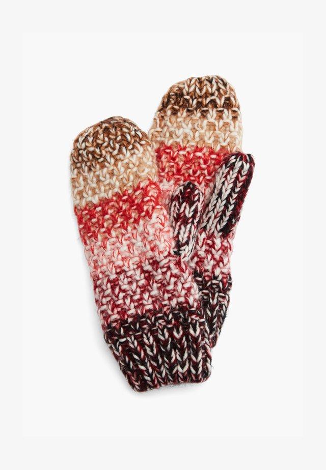 Mittens - beige knit