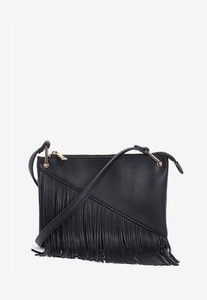 FRINGE DETAIL - Across body bag - black