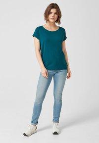 Q/S designed by - T-shirt print - blue green - 1