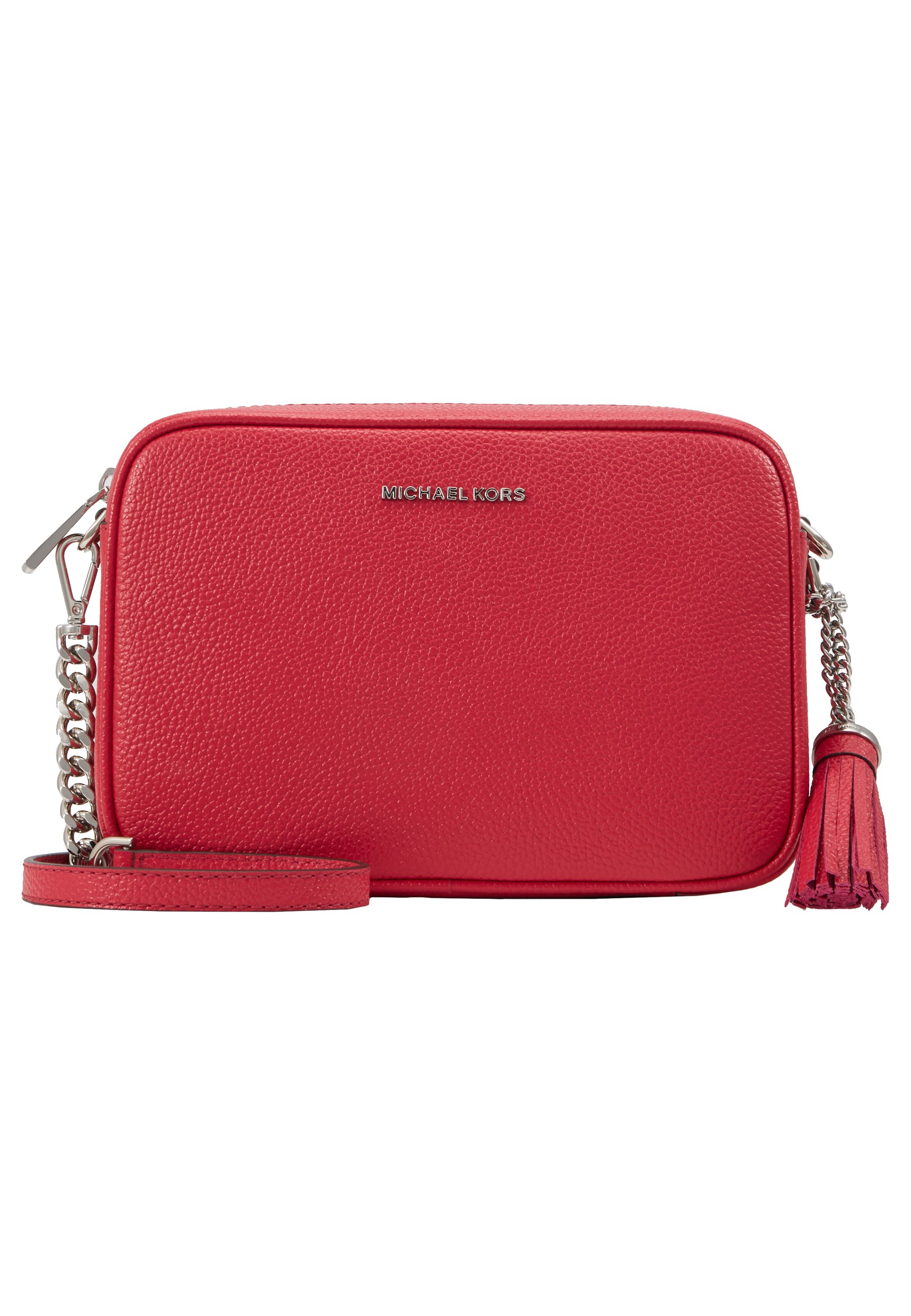 MICHAEL Michael Kors JET SET CAMERA BAG MERCER PEBBLE - Skulderveske - raspberry/rosa T7zzHi37hU6ZVyp