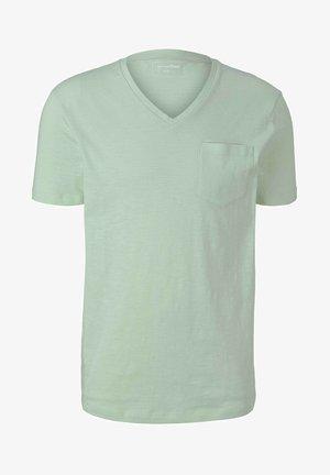 MELIERTES MIT BRUSTTASCHE - Basic T-shirt - smooth green