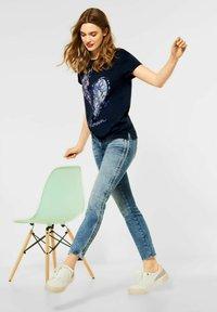 Street One - Print T-shirt - blau - 2