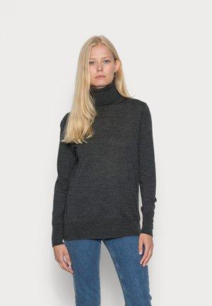 Stickad tröja - charcoal heather