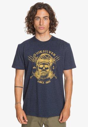 Print T-shirt - navy blazer heather