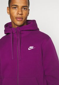 Nike Sportswear - CLUB HOODIE - Zip-up sweatshirt - viotech/viotech/white - 4