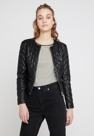 JDYFIA QUILT JACKET - Faux leather jacket - black