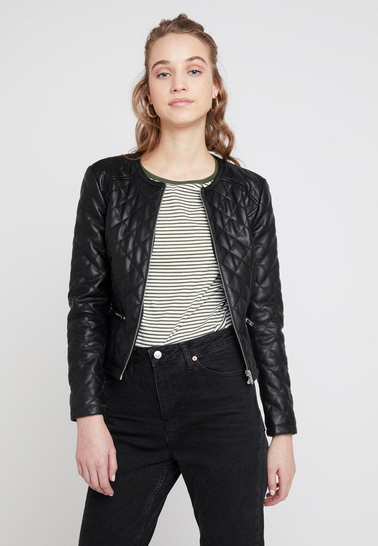 JDY - JDYFIA QUILT JACKET - Faux leather jacket - black