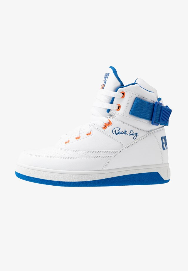 33 HI - Høye joggesko - white/princess blue/vibrant orange