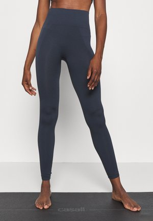 HIGH SEAMLESS LEGGING - Tights - coal
