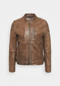 GALWAY Z BIKER - Leather jacket - brown