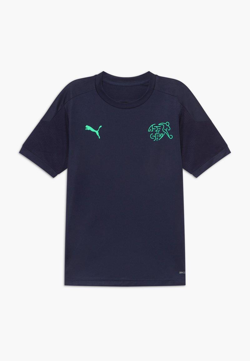 Puma - SCHWEIZ SVF TRAINING - National team wear - peacoat/green glimmer
