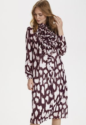 LILLYSZ - Shirt dress - wine animal skin