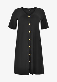 Yoek - SHORT SLEEVE - Shirt dress - black - 3