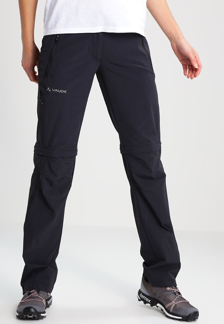 Vaude - WOMEN'S FARLEY STRETCH ZO T-ZIP PANTS 2-IN-1 - Pantalon classique - black