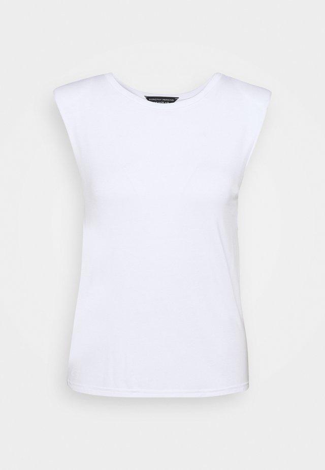 PADDED SHOULDER TEE - T-shirt basic - white