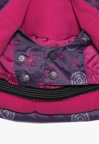 Minymo - SNOW JACKET OXFORD GIRL SHAPE - Zimní bunda - loganberry - 4