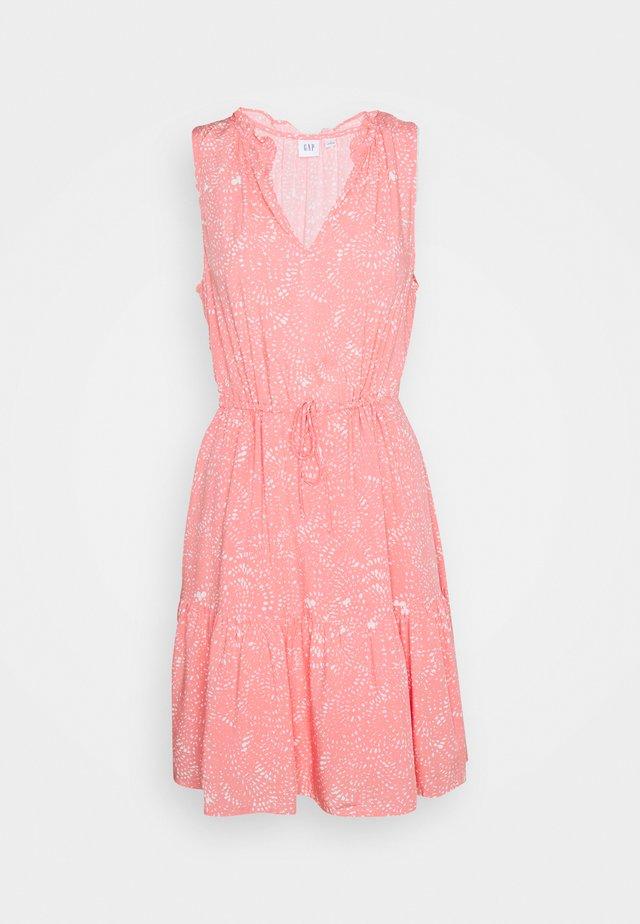 ZEN DRESS - Korte jurk - white/pink