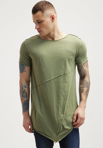 Print T-shirt - lightolive