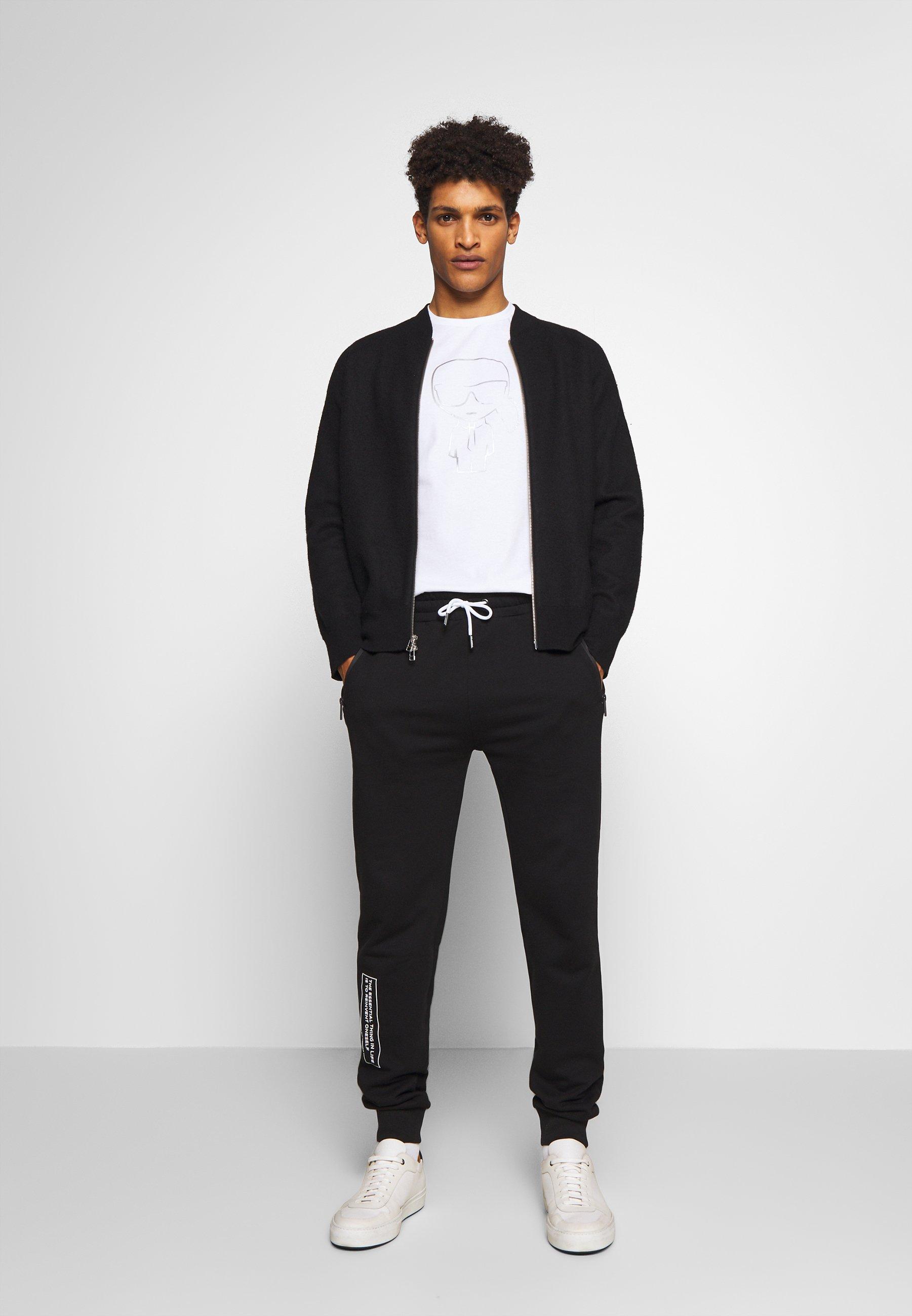 Karl Lagerfeld T-shirt Z Nadrukiem - White