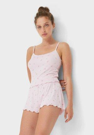 MIT PATENTMUSTER UND KNÖPFEN  - Pyjama bottoms - pink