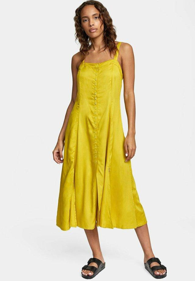 Korte jurk - sulphur