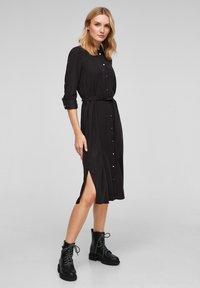 s.Oliver - Shirt dress - black - 1