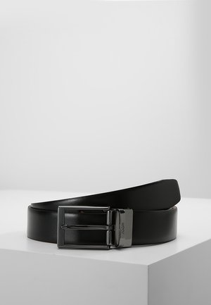 GUTEL BUSINESS - Belt business - black/cognac