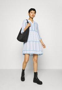 Rich & Royal - DRESS EMBROIDERED - Day dress - capri blue - 1