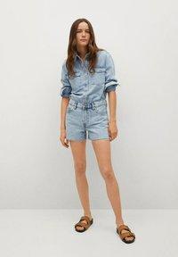 Mango - HAILEY - Szorty jeansowe - bleu clair - 1