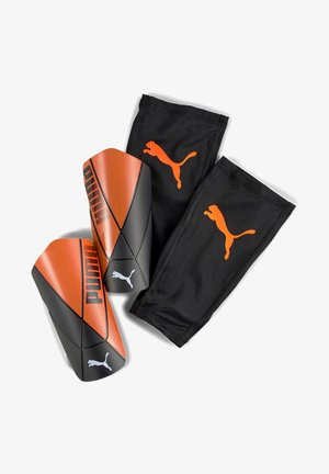 PUMA FTBLNXT PRO FLEX SLEEVE - Shin pads - shocking orange-black-white