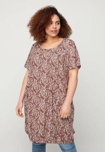 MIT PRINT - Day dress - brown