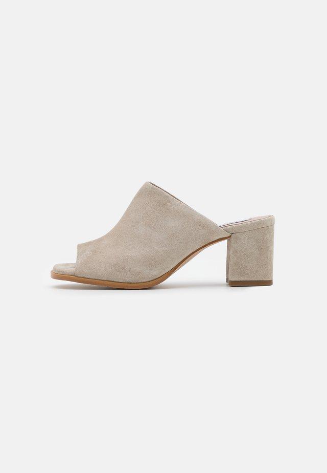 CHARLOTTE - Heeled mules - beige