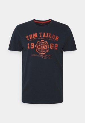 LOGO TEE - Camiseta estampada - dark blue