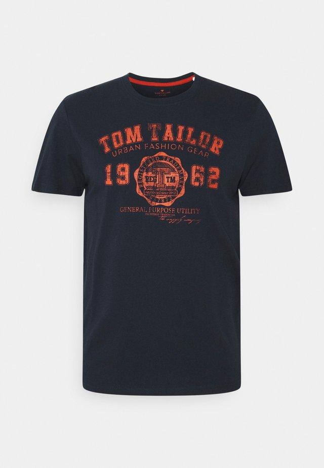 LOGO TEE - T-shirt imprimé - dark blue