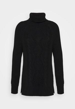 CABLE TURTLENECK - Pullover - true black