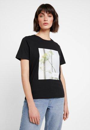 FLORAL BOX - T-shirts med print - black