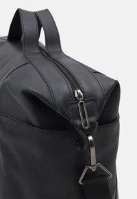 Zign - LEATHER UNISEX - Weekend bag - black - 5