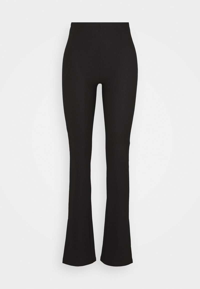 Gina Tricot - MY SLIT TROUSERS - Trousers - black