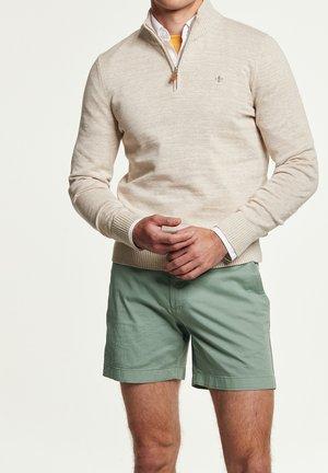 RANDAL HALF ZIP - Stickad tröja - khaki