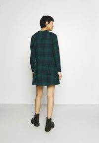 GAP - DRESS PLAID - Shirt dress - dark green - 2