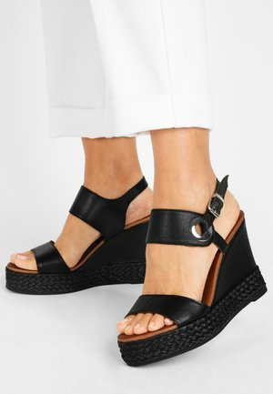 Sandalen met hoge hak - black blk