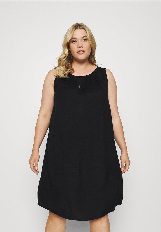 DRESS FLUENT SLEEVELESS - Denní šaty - deep black